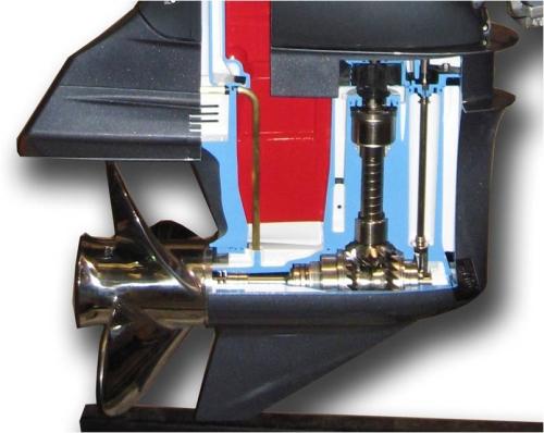 keerkoppeling buitenboordmotor opengewerkt