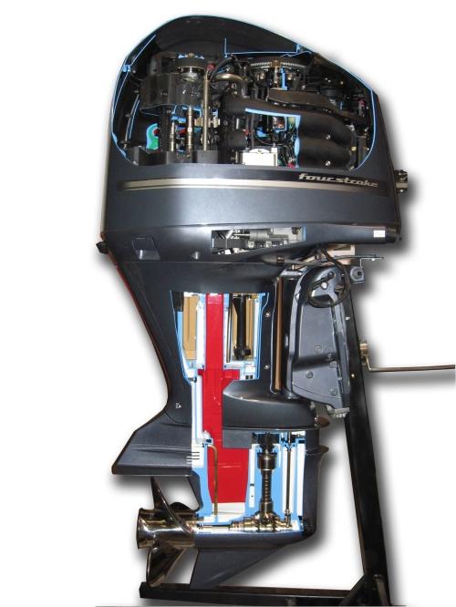 Opengewerkte Buitenboordmotor